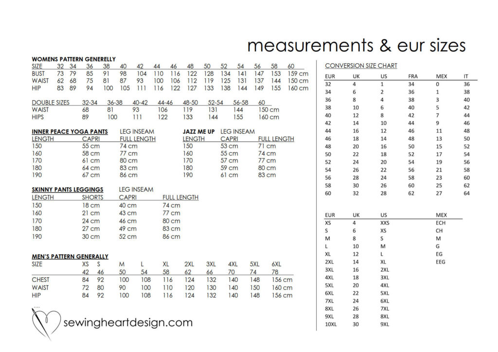 Size Measurements