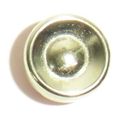 Baksida på blingknapp. Fästes med nit med pärlsättare eller insats till knappress
