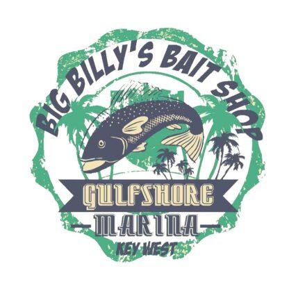 Vinyltryck Big Billys bait shop