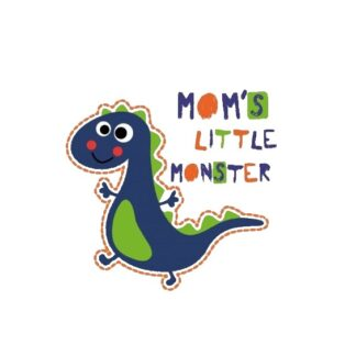 Vinyltryck Moms little monster