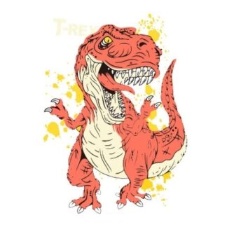 Vinyltryck T-rex orange