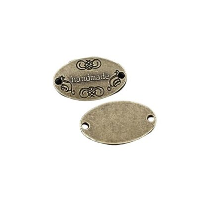 METAL TAGS oval antikbrons