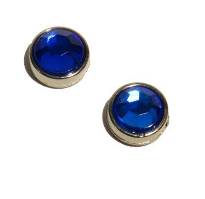 10mm blå blingpärla