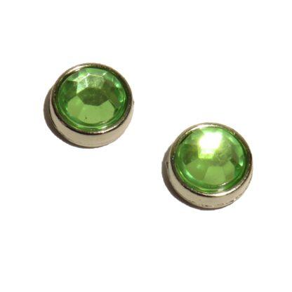 10mm ljusgrön blingpärla