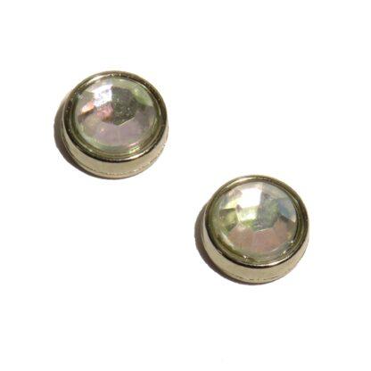 10mm ofärgad blingpärla