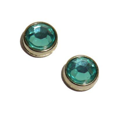 10mm turkos grön blingpärla