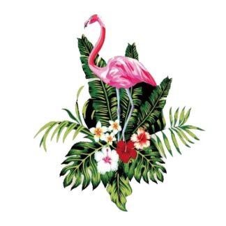 Vinyltryck Flamingo blad