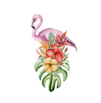 Vinyltryck Flamingo blommor