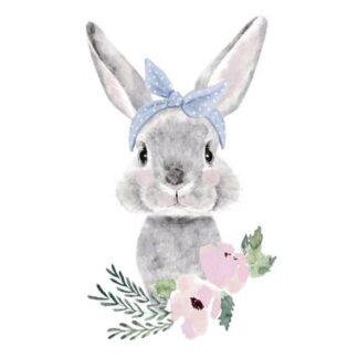 Vinyltryck grå Kanin