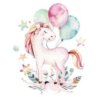 Vinyltryck Unicorn ballons