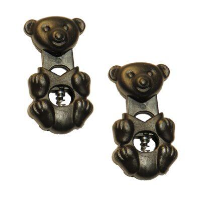 Snörlås i form av en björn för två snören