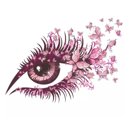 Vinyltryck öga fjärilar 23x16