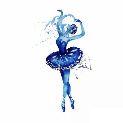 Vinyltryck Ballerina blå 21x13