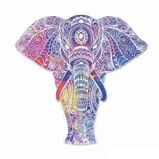 Vinyltryck Elefant mandala 23x23