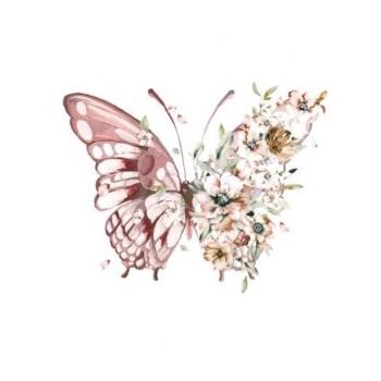 Vinyltryck Fjäril blommor - 6x5