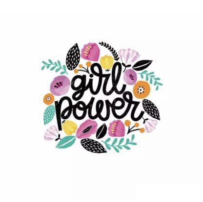 Vinyltryck Girl power 19x18