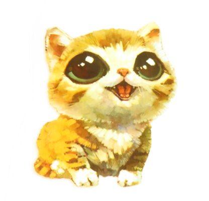 Vinyltryck Katt stora ögon - 8x6