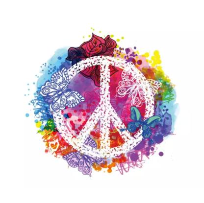 Vinyltryck Peace 23x20
