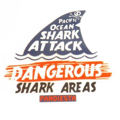 Vinyltryck Shark attack - 8x8