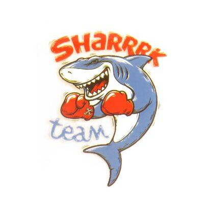Vinyltryck Shark team - 7x5