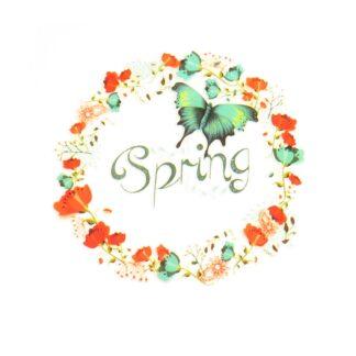 Vinyltryck Spring krans - 6x6