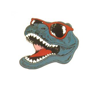 Vinyltryck T-rex huvud - 7x6
