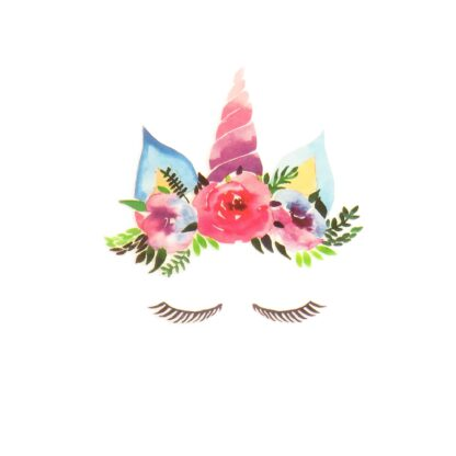 Vinyltryck Unicorn eyes rosa - 6x7