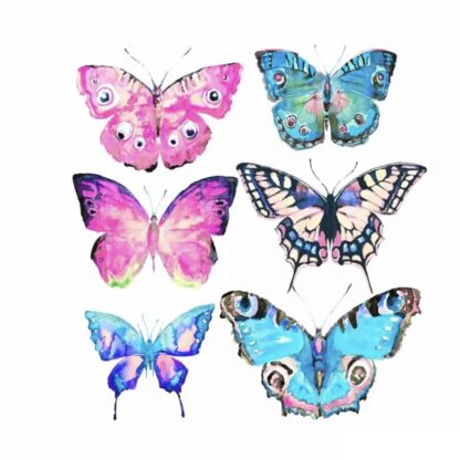 Vinyltryck fjärilar 6st 18x17