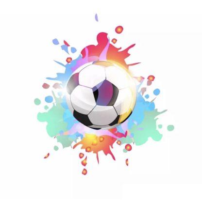 Vinyltryck fotboll splash 12x10