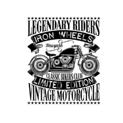 Vinyltryck Legendary riders 10x13
