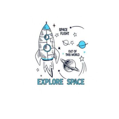 Vinyltryck explore space 16x19