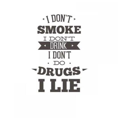 Vinyltryck i dont smoke 18x25