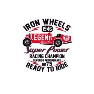 Vinyltryck iron wheels 19x21