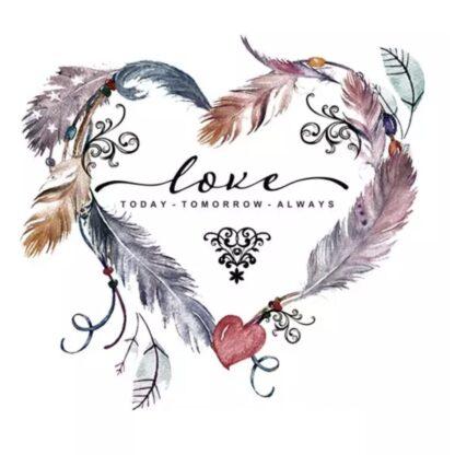 Vinyltryck love heart 21x23