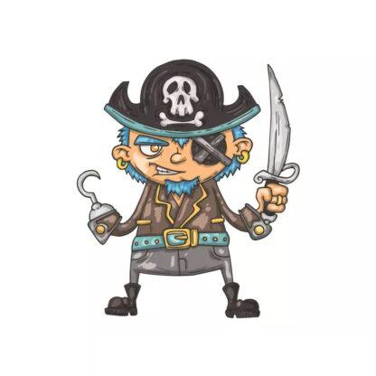 Vinyltryck pirat svärd 11x13