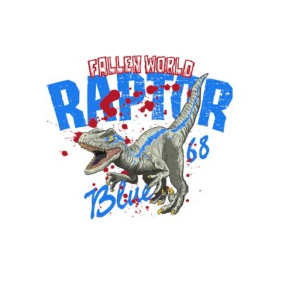 Vinyltryck raptor 12x14cm