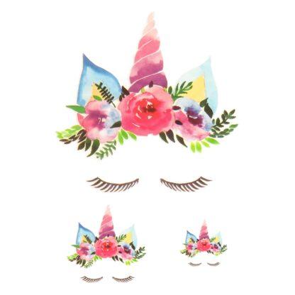 Vinyltryck set unicorn eyes rosa