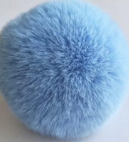 pälsboll blå