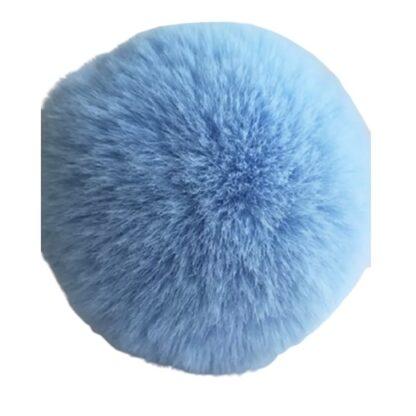 pompom pälsboll blå, polyester