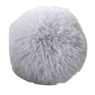 pompom pälsboll grå, polyester