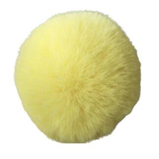 pompom pälsboll gul, polyester