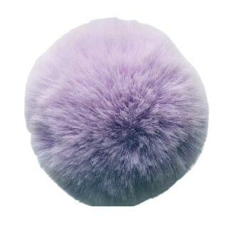 pompom pälsboll lila, polyester