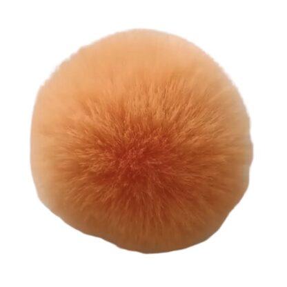 pompom pälsboll orange, polyester