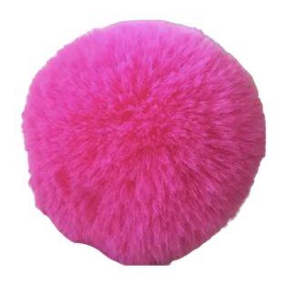 pompom pälsboll rosa, polyester