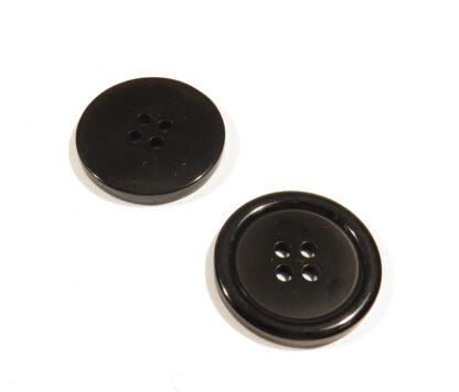 svart 4-håls knapp