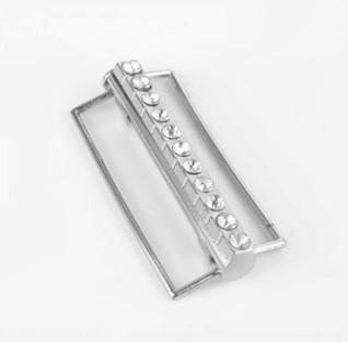 bältesspänne 02 silver bling 6x2.5cm