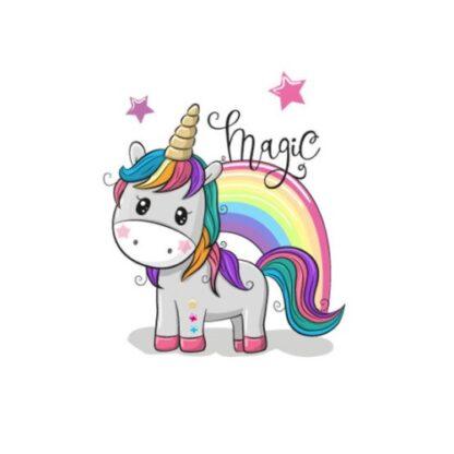 Vinyltryck unicorn magic 9x8