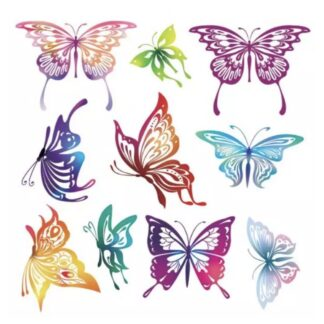 vinyltryck Collage fjärilar 10st