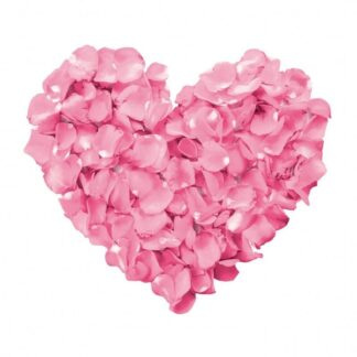Vinyltryck hjärta rosblad 23x20