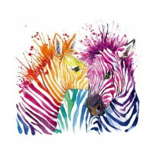 vinyltryck zebror färg 20x18